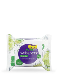Cucumber Facial Wipes 2x25 pack
