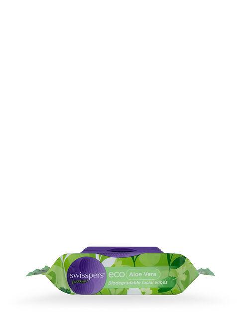 Eco Aloe Vera Biodegradable Facial Wipes 25 pack