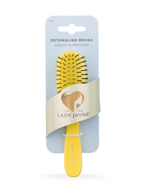 Yellow Smooth & Knotless Detangling Brush - Purse-Sized