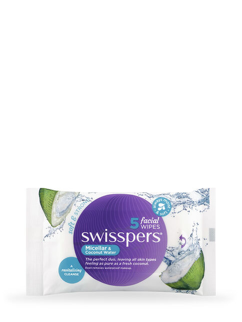 Micellar and Coconut Water Facial Wipes 5 pack